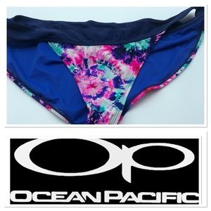 ✅ 3 for $15✅ OP Bikini bottom blue with tie dye